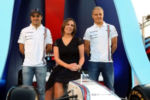 Felipe Massa, Valtteri Bottas y Claire Williams