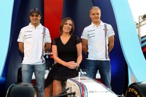Felipe Massa, Valtteri Bottas y Claire Williams