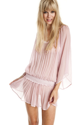 vestido_tunica_seda_bambula_rosa_bechwear_barcelona