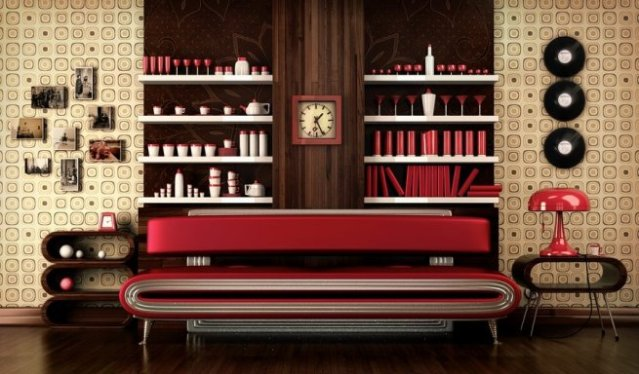 Decorar-con-muebles-retro